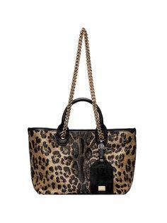 Dolce & Gabbana сумка-тоут с анималистичным принтом