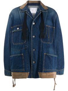 Sacai джинсовая куртка оверсайз