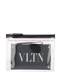 Valentino Garavani клатч с логотипом VLTN