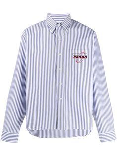 Prada полосатая рубашка на пуговицах