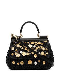 Dolce & Gabbana плетеная сумка на плечо Sicily с подвесками