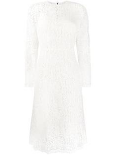 Dolce & Gabbana кружевное платье миди с фестонами