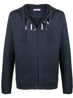 Valentino худи на молнии с логотипом