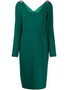 Dolce & Gabbana декорированное платье миди