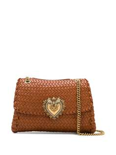Dolce & Gabbana плетеная сумка на плечо Devotion