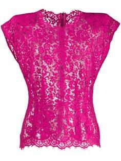 Dolce & Gabbana прозрачная блузка с цветочным кружевом