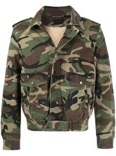 Saint Laurent куртка с камуфляжным принтом