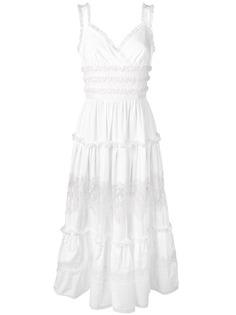 Dolce & Gabbana длинное платье с оборками