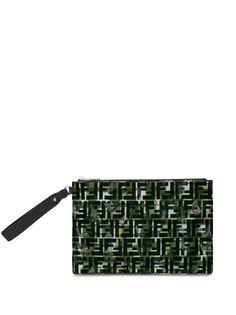 Fendi клатч на молнии с логотипом FF