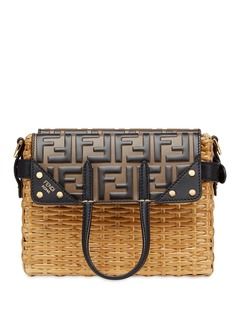 Fendi плетеная мини-сумка с узором FF