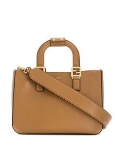Fendi маленькая сумка-тоут с логотипом FF