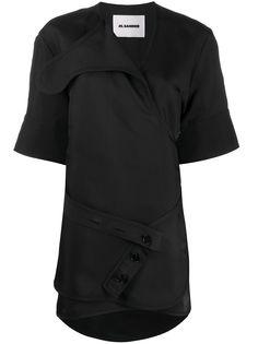 Jil Sander длинная блузка с запахом