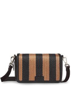 Fendi полосатая сумка на плечо