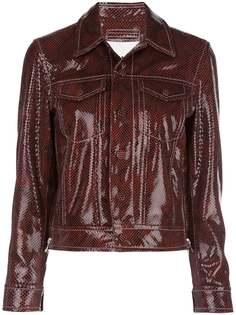 GANNI куртка-рубашка с тиснением под змеиную кожу