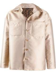 Fendi куртка-рубашка свободного кроя