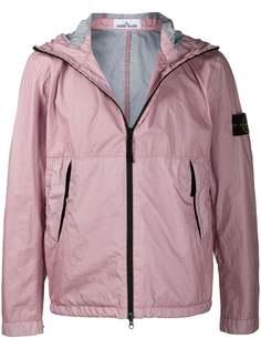 Stone Island легкая куртка с контрастной молнией