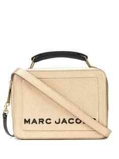 Marc Jacobs фактурная сумка с эффектом металлик