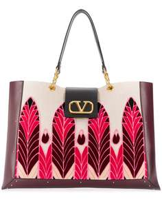 Valentino сумка Valentino Garavani с логотипом VLogo с вышивкой