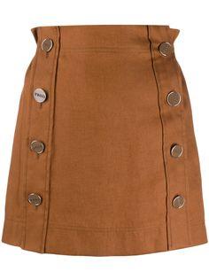 Emilio Pucci мини-юбка на пуговицах