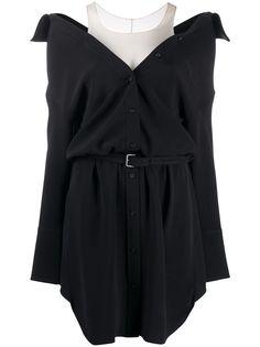 Alexander Wang платье-рубашка с открытыми плечами