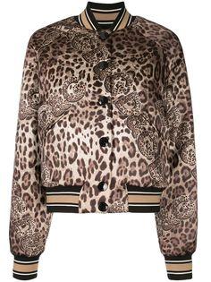 Dolce & Gabbana бомбер с леопардовым принтом