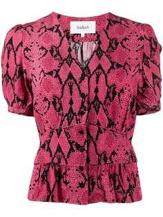 Ba&Sh блузка Cleo со змеиным принтом