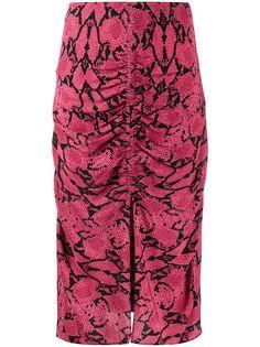 Ba&Sh юбка-карандаш Carry со змеиным принтом