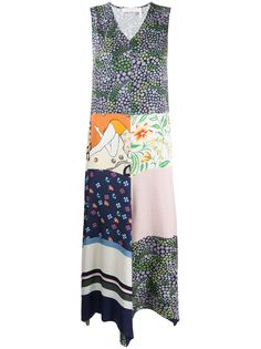 See by Chloé Summer Patchwork asymmetrical dress