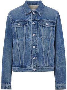 Burberry джинсовая куртка с логотипом