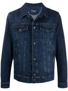 Kiton джинсовая куртка с вышитым логотипом
