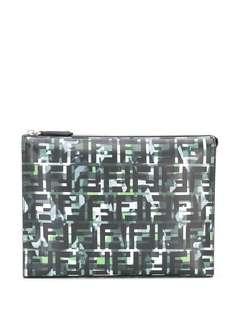 Fendi клатч с камуфляжным принтом FF