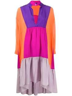 Jejia платье-туника в стиле колор-блок