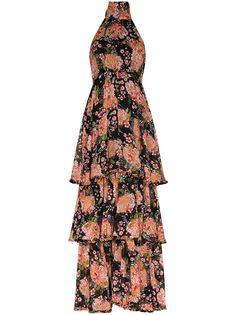 byTiMo платье макси с вырезом халтер и цветочным принтом