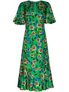 Borgo De Nor платье миди Vivian с принтом и оборками