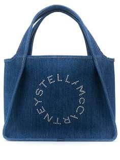 Stella McCartney джинсовая сумка-тоут с логотипом