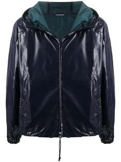 Emporio Armani куртка из искусственной кожи с капюшоном
