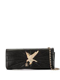 Chanel Pre-Owned стеганая сумка на плечо со стразами