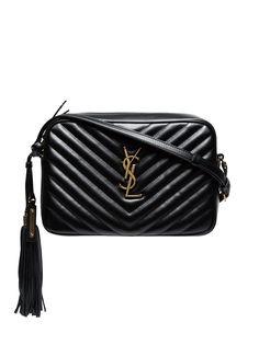 Saint Laurent маленькая сумка через плечо Lou с декором Monogram