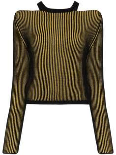 Eckhaus Latta свитер Clavicle в рубчик