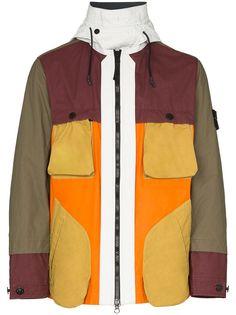 Stone Island куртка на молнии со вставками