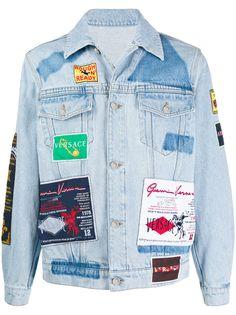 Versace джинсовая куртка с нашивками Rodeo