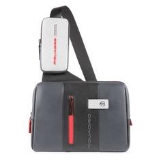 Рюкзак унисекс Piquadro Urban CA4974UB00/GRN серый/черный натур.кожа