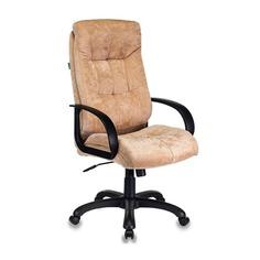 Кресло руководителя БЮРОКРАТ CH-824, на колесиках, ткань, песочный [ch-824/lt-21]
