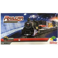 Железная дорога -конструктор с локомотивом Taigen, 350 деталей