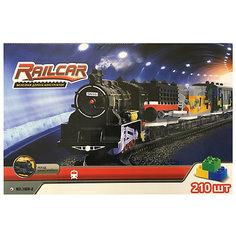 Железная дорога -конструктор с локомотивом Taigen, 210 деталей
