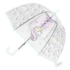 Зонт прозрачный «ЕДИНОРОГ» голубой Bradex