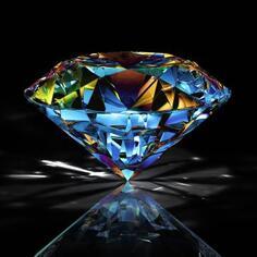 Картина на стекле «Сверкающий алмаз» 30х30 см
