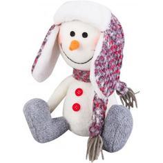 Фигурка декоративная «Снеговик в шапке», 20 см