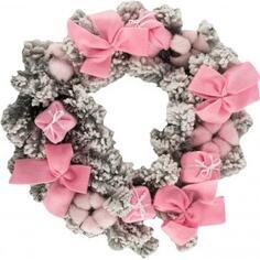 Венок рождественский 40 см цвет розовый цвет розовый