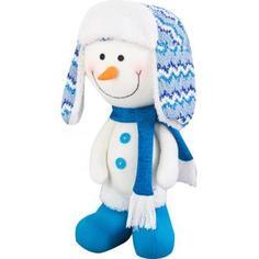 Фигурка декоративная «Снеговик в шапке и шарфе», 42 см